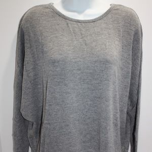 Cupshe Beach Pool Cover Up Shirt Solid Gray